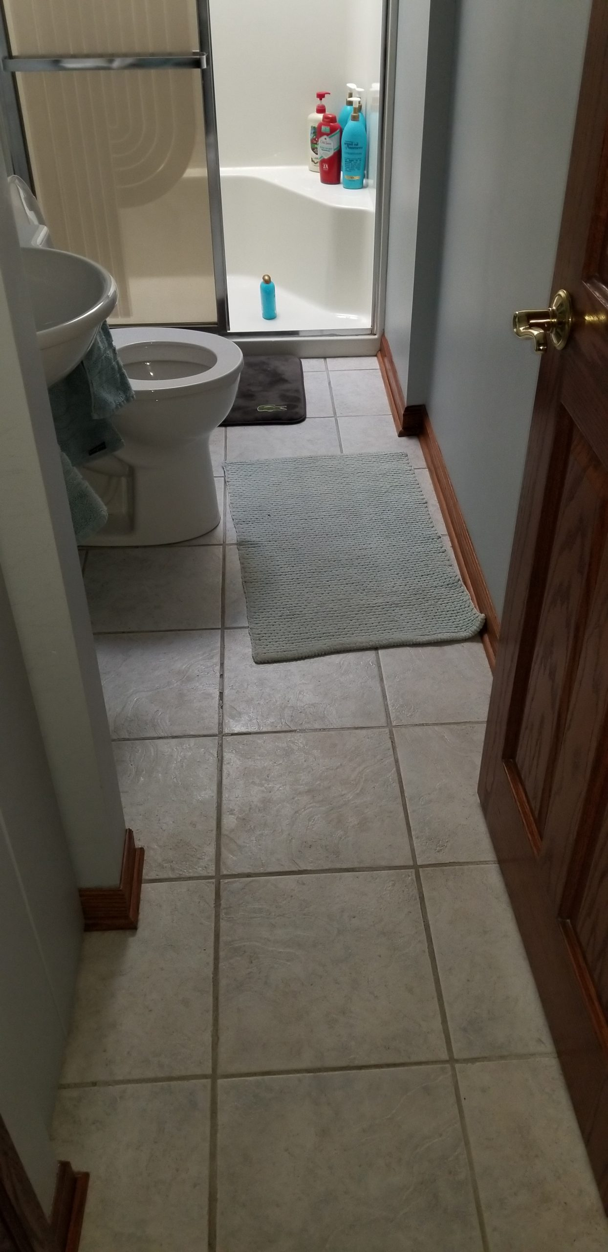 before tile floor