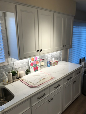 refaced kitchen cabinet